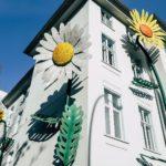 Maison grosses fleurs